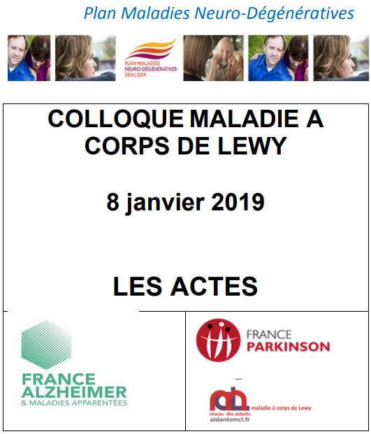 Colloque 2019 Maladie à corps de Lewy